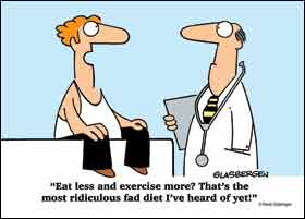 eat less exercise more